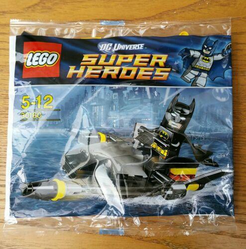 New lego 30160 dc comics batman mini figure /& batboat poly bag brand new