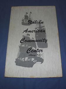 VINTAGE   ITALIAN AMERICAN COMMUNITY CENTER ALBANY NEW YORK MENU