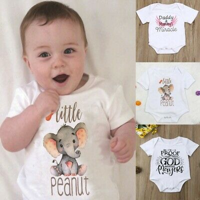 Newborn Baby Boy Girl Father/'s Day Romper Bodysuit Jumpsuit Sunsuit Clothes UK