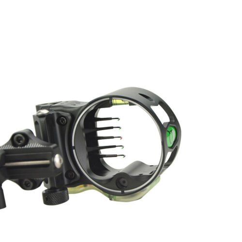 Archery Micro Bow Sight 5 Pin .019  Long Pole Adjustable Right Hand Compound IQ5