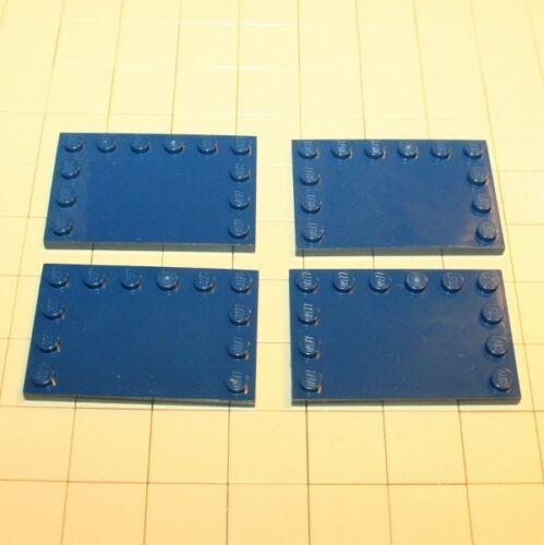 Lego® Creator 4 Platten 4 x 6 mit 12 Noppen Earth Blue 4264890  6180