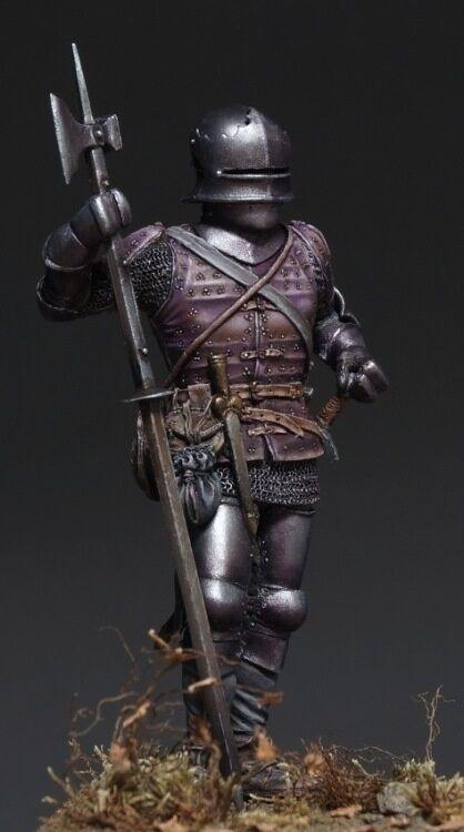 Soldato di resistenza, museo, uomo d'armi europeo medievale, mercenario svizzero, 75 mm