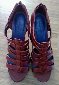 Madden-Girl-G-Safia-burgendy-strappy-platform-heels-size-8M