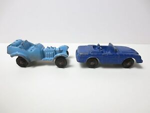 Vintage-Lot-of-2-Tootsie-USA-Toy-Car-Metal-Blue-and-Baby-Blue-2-inches-PG1461