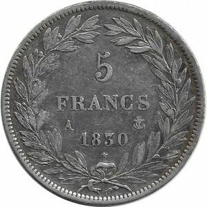 FRANCE-5-FRANCS-LOUIS-PHILIPPE-I-1830-A-TRANCHE-EN-RELIEF-TTB
