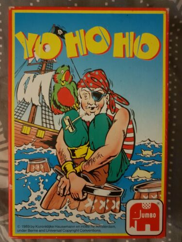 Jumbo 'Yo Ho Ho' Card Game 1989 Original Box & Instructions AS NEW!