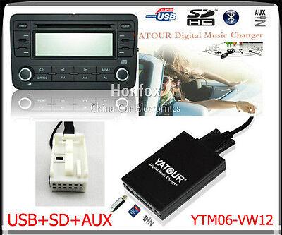Bluetooth USB SD mp3 AUX CD cambiador adaptador para VW radio RCD 300 310 500 510