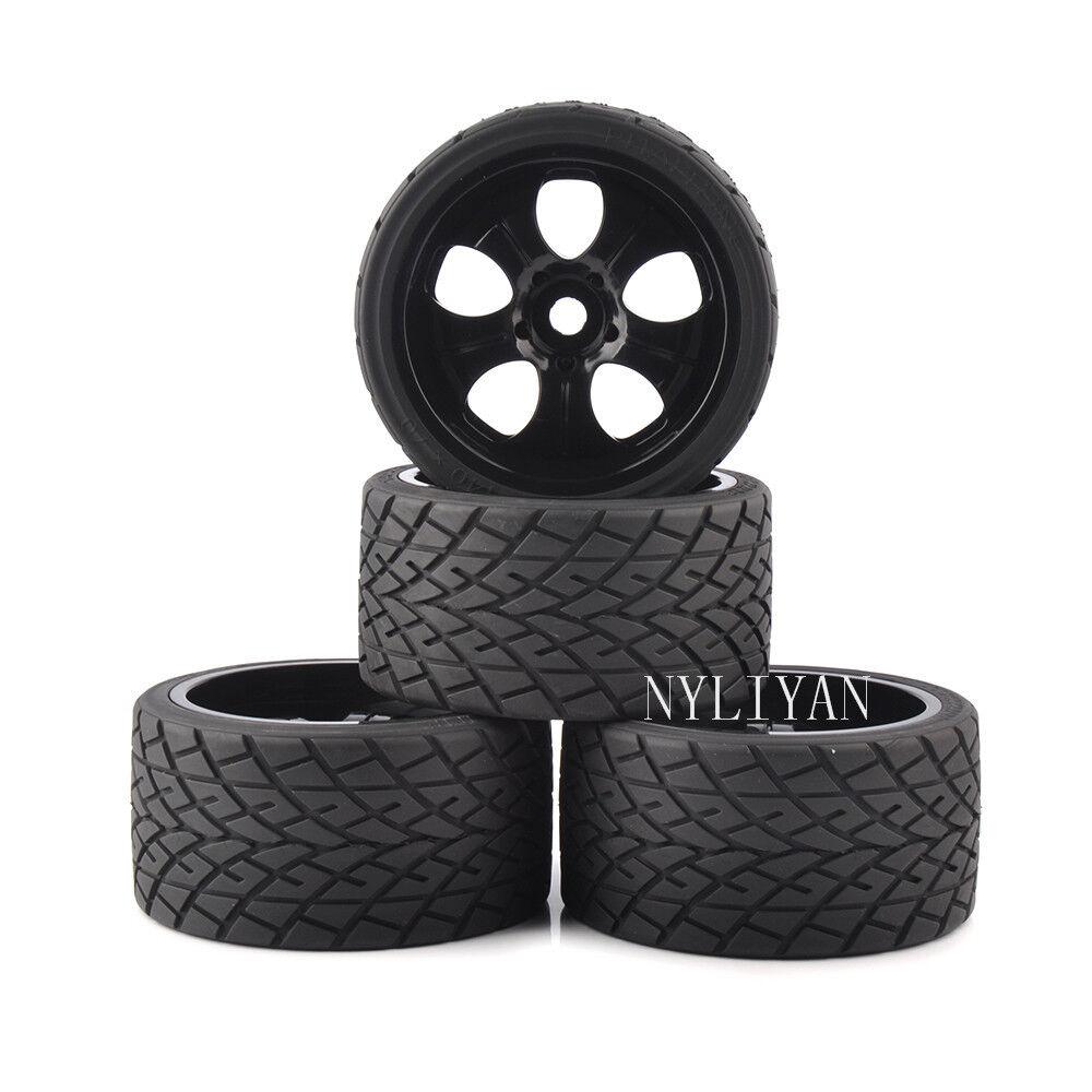 4X 17mm Hex para neumáticos ruedas llantas & Neumáticos para 1 8 RC Coche Modelo Bigfoot de carretera