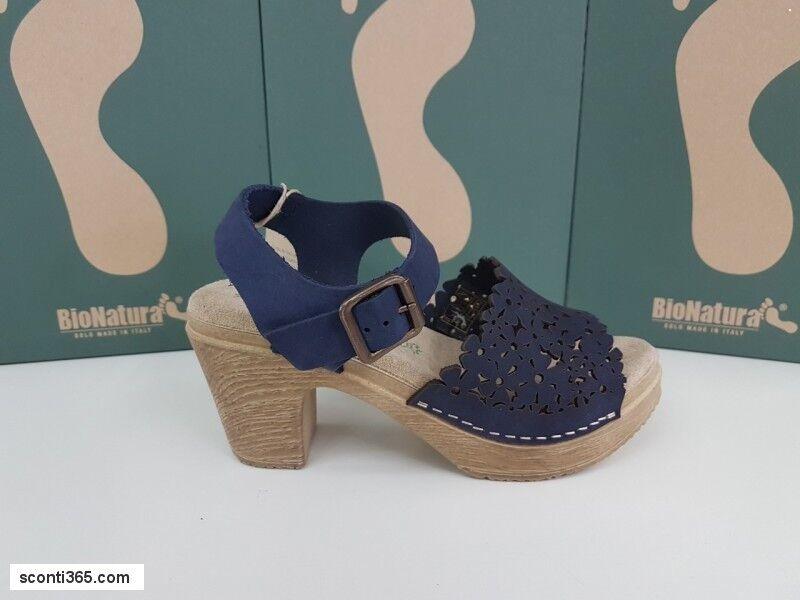 BioNatura Sandalei C/Tacco, Art. Damenschuhe - Art. C/Tacco, 64A2013-BLUNA (Blau/Navy) 97b50a