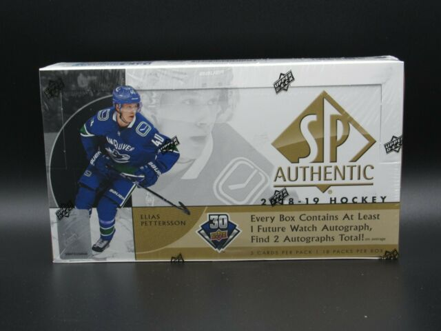 2018-19 UPPER DECK SP AUTHENTIC HOCKEY SEALED 8 BOX CASE