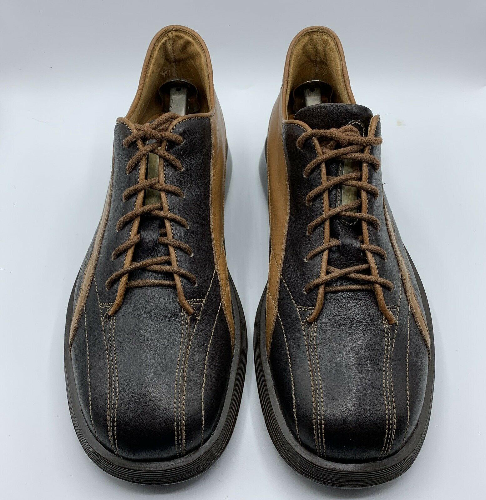 BASTIANELLI FOR BARNEYS NY OLD SAIL BROWN SOFT LEATHER MEN SHOES EU 42/ US 8.5