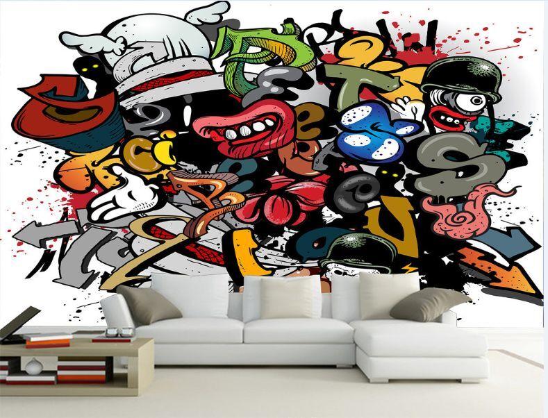 3D Graffiti 999 Parete Murale Foto Carta da parati immagine sfondo muro stampa