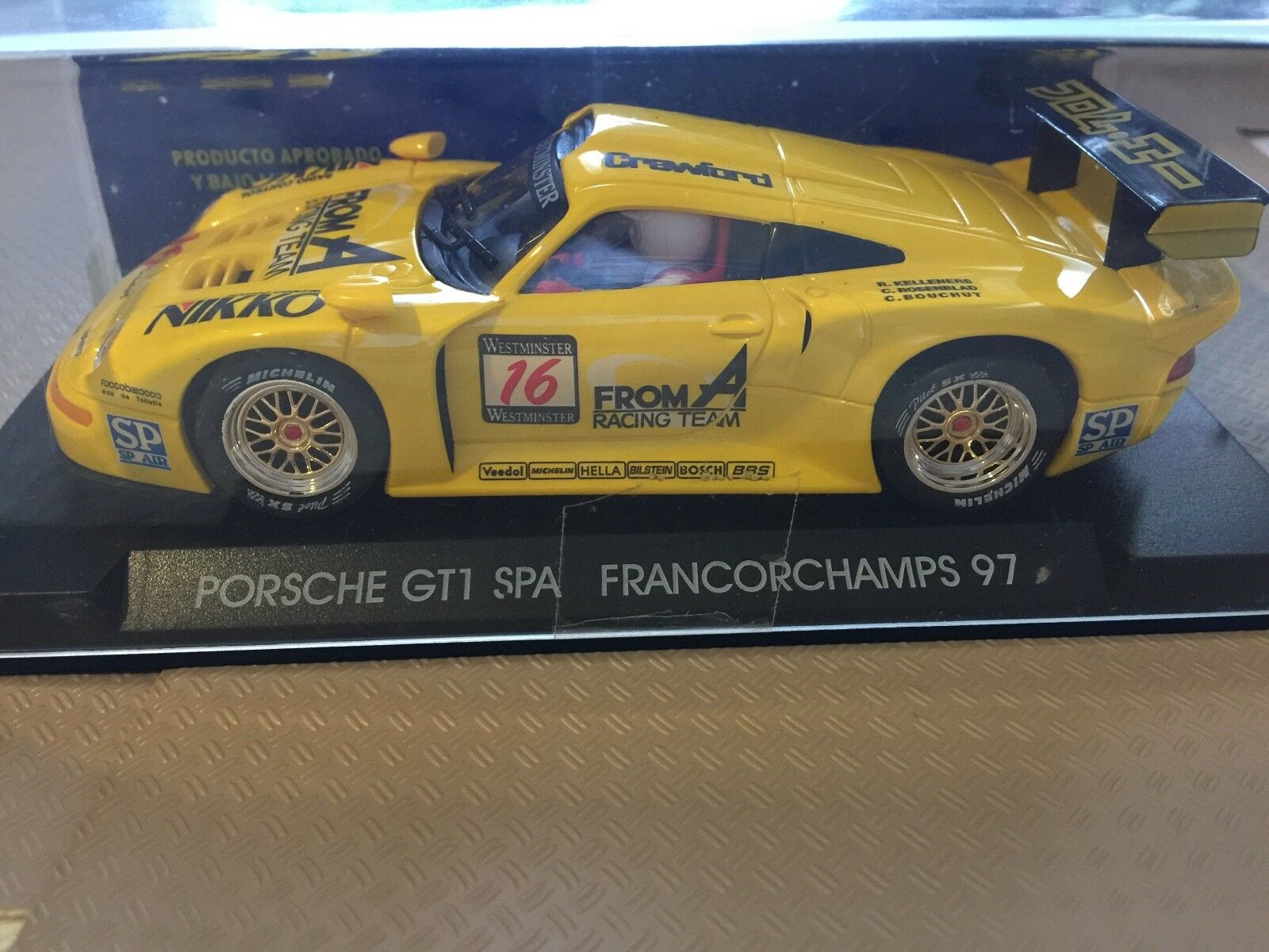 FLY A36 PORSCHE 911 GT1 SPA FRANCORCHAMPS'97 KELLENERS-pinkNBLAD-BOUCHUT