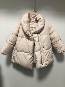Zara Baby Girl Toddler Light Pink Puffer Winter Coat, Size ...