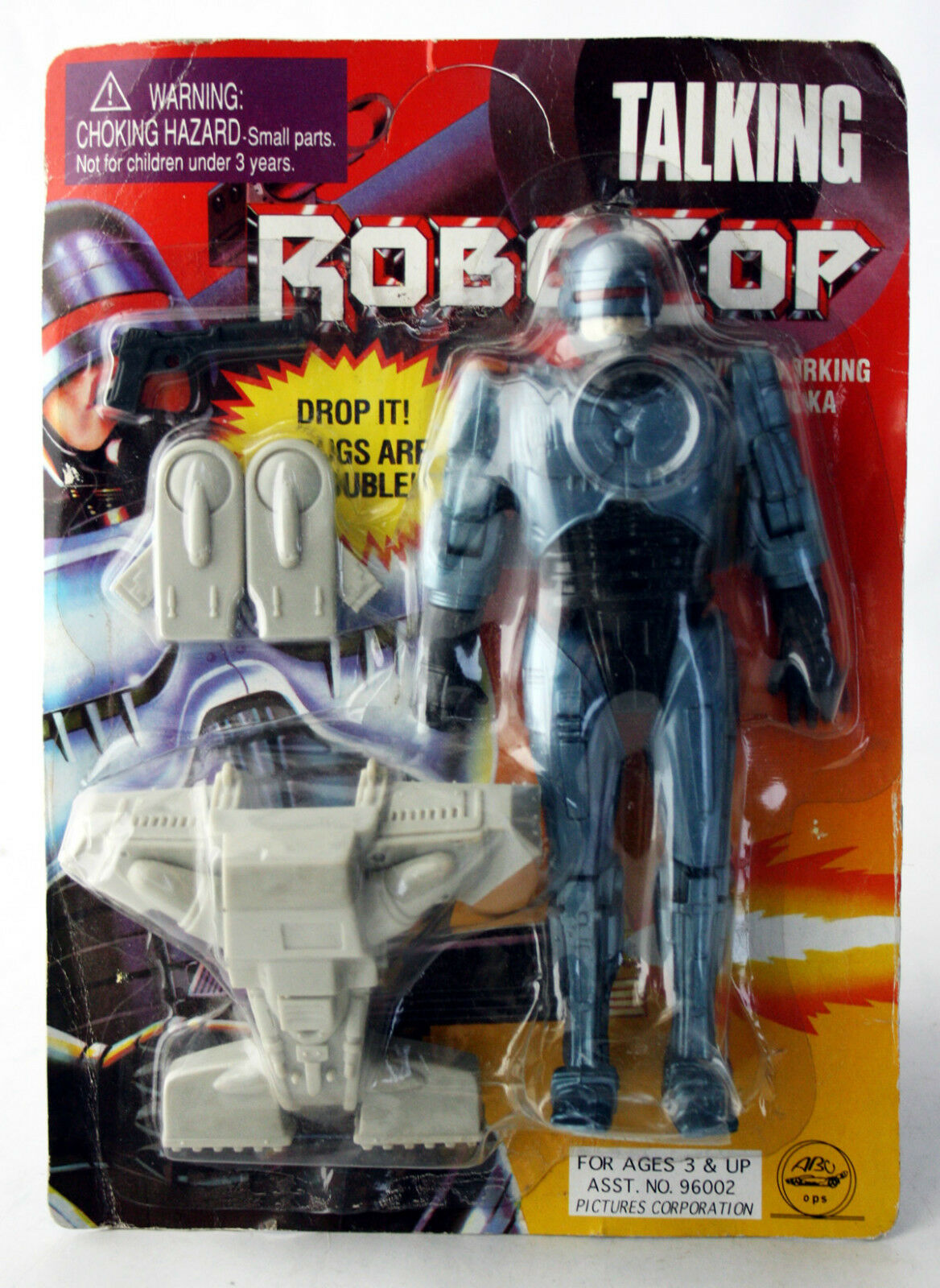RARE VINTAGE 90'S ROBOCOP 8    FIGURE KO FLIGHT PACK NOT TALKING NEW MOSC b19efa