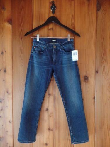 195 Fallon Taglia Hudson Straight Crop Jeans 24 Blue New 8wCqStS