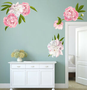Peony Wall Decals Floral Decals Peonies Wall Art Ebay