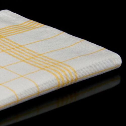 50x Halbleinen Geschirrtücher in Gelb Küchentuch kleines gelbes Geschirrtuch