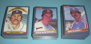 Details About 1986 Leaf Baseball Card Set