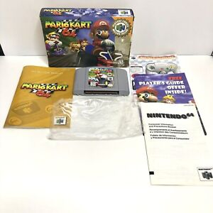 Mario Kart 64 Nintendo 64, N64 Authentic Complete in Box W/ Manual, Inserts, Bag