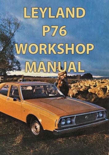 LEYLAND P76 WORKSHOP MANUAL