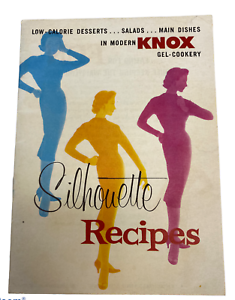 Silhouette Recipes Knox Gel Cookery Booklet Cookbook Vintage 1957