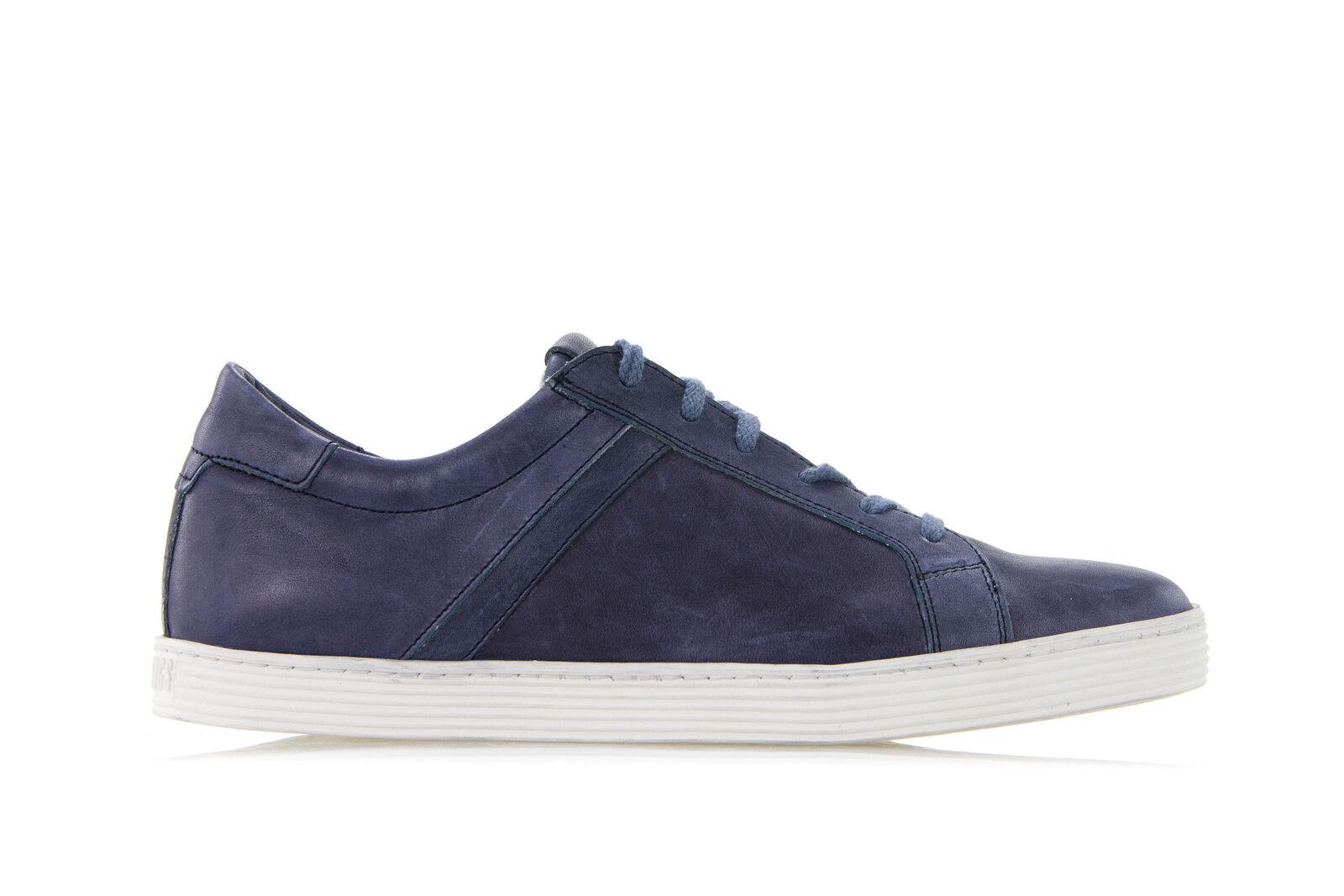 BIKKEMBERGS zapatos zapatillas hombres WORDS 892 LOW zapatos Pelle Vintage azul