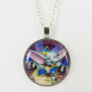 Details zu FLYING DUMBO NECKLACE disney baby of mine elephant circus cute vintage big ears