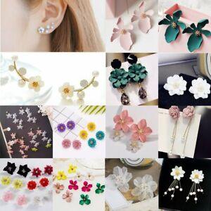 Fashion-Women-Flower-Peony-Stud-Earrings-Wedding-Drop-Dangle-Party-Jewelry-Gift