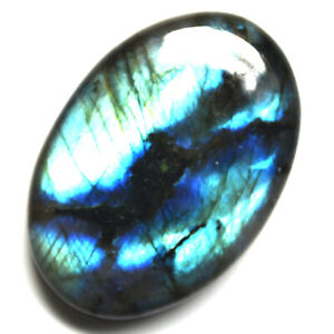 Cts-55-00-Natural-Multi-Fire-Labradorite-Cabochon-Oval-Cab-Loose-Gemstone