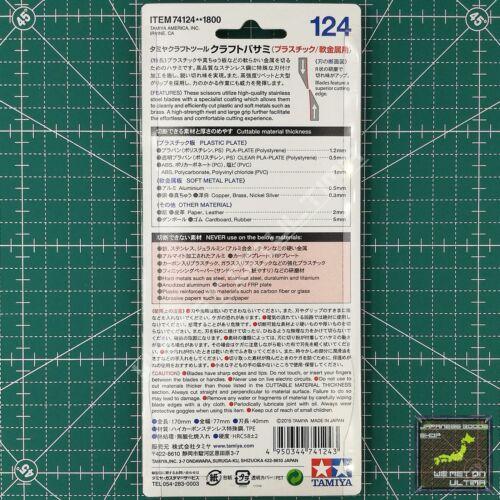 Tamiya 74124 Manualidades Tijeras para Plástico,Suave Metal Orugas /& Combinado
