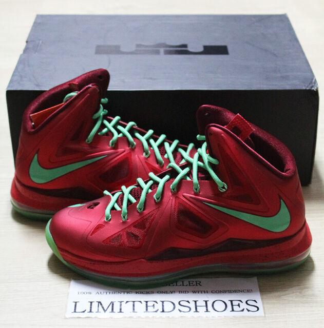 Lebron Christmas 10.Nike Lebron X 10 Christmas 541100 600 Us 9 5 Size Cork Lava Elite All Star Id