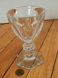 Baccarat-Crystal-France-Harcourt-Wine-Glass-Water-Goblet-5-3-4-034-Tall