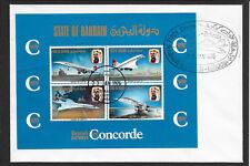 l207 BAHRAIN/ Flugzeuge-Concorde MiNr Block 1 FDC