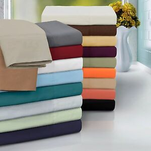 Image Is Loading Bed Sheets Set Flat Amp Fitted Sheets Pillowcases