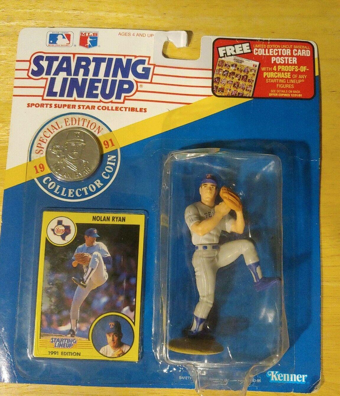 Starting Lineup Kenner 1993 Extended Series Nolan Ryan Texas Rangers NIB