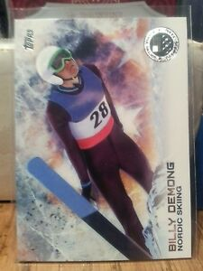 2014-Topps-Olympics-silver-parallel-card-23-Billy-Demong-Nordic-Skiing