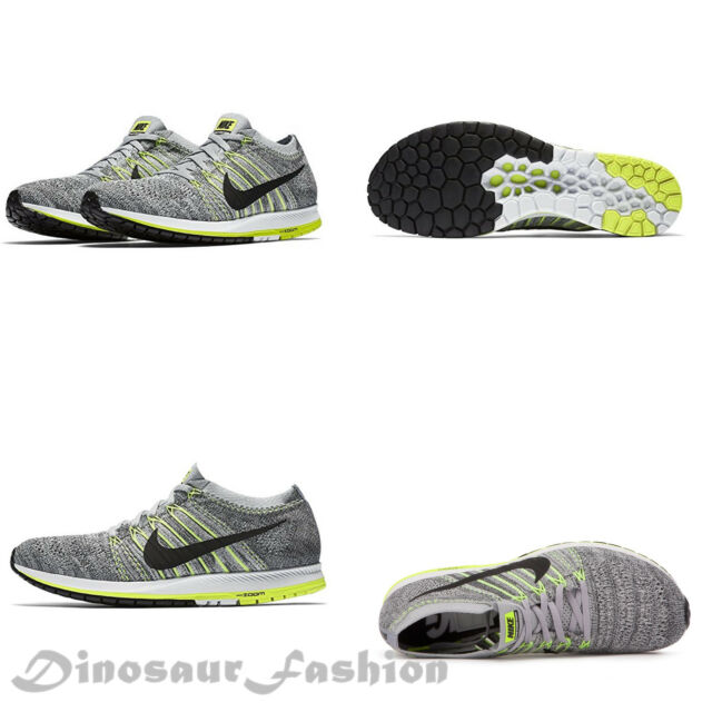 d763c4827d53 Nike Zoom Flyknit Streak Sz 11 Wolf Grey Black Anthracite 835994 007 ...