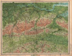 South London Map.Details About South London North Downs Chatham Tonbridge Maidstone Kent Surrey 1939 Map