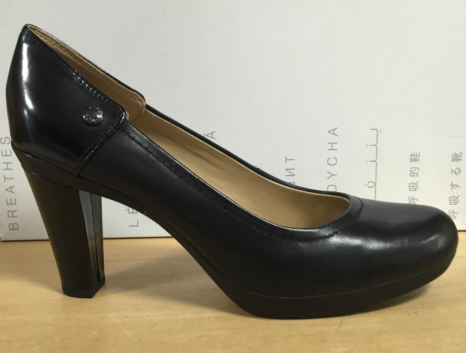 GEOX shoes women DECOLTE' VITELLO black TACCO MEDIO E PLATEAU LINEA INSPIRATION