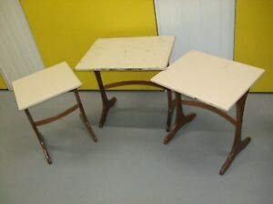 20TH-CENTURY-G-PLAN-TEAK-NEST-OF-THREE-TABLES-HAND-PAINTED