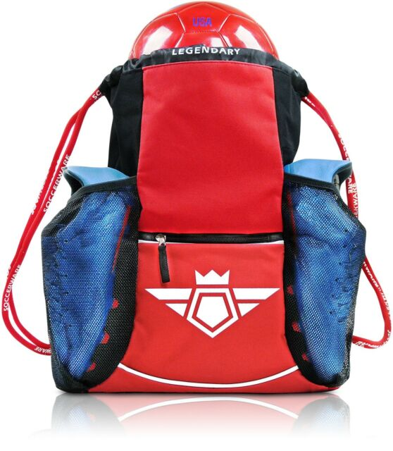 ed55a0eae28 Kids Soccer Bag Backpack - XL Capacity Youth