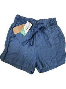 Thread & Supply Chambray Belted Shorts Size  S Womens