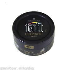 (4,68€/100ml) 75ml Taft Ultimate Wax HALT  Ultimativer halt & Glanz Schwarzkopf