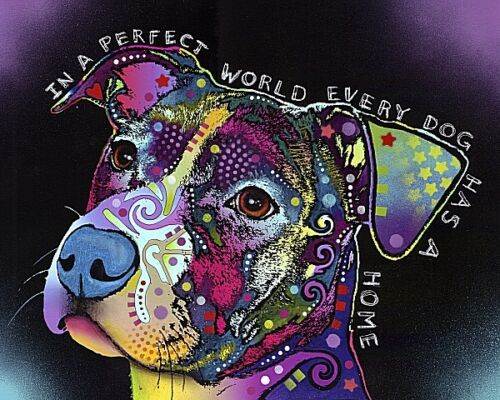 In a Perfect World by Dean Russo Dog Print 10x8