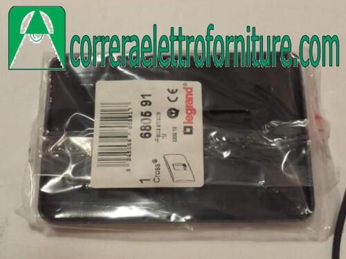 LEGRAND 680591 PLACCA CROSS ABS ANTRACITE 1 MODULO