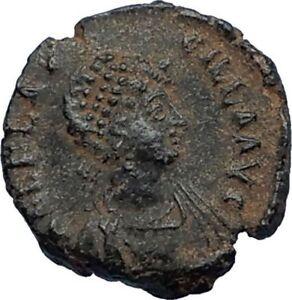 AELIA-FLACILLA-Theodosius-I-Wife-383AD-Ancient-Roman-Coin-VICTORY-CHI-RHO-i67525