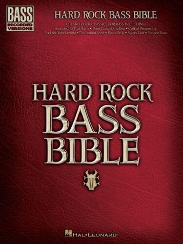 Hard Rock Bass Bible Sheet Music Bass Recorded Versions NEW 000690746