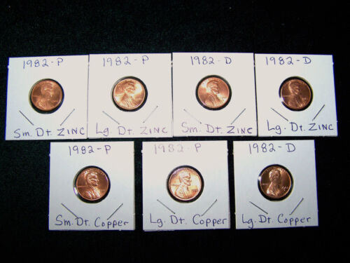 Dates 1959-2019 LINCOLN MEMORIAL BU CENT SET with all 7-1982/'s /& 1960 P+D Sm