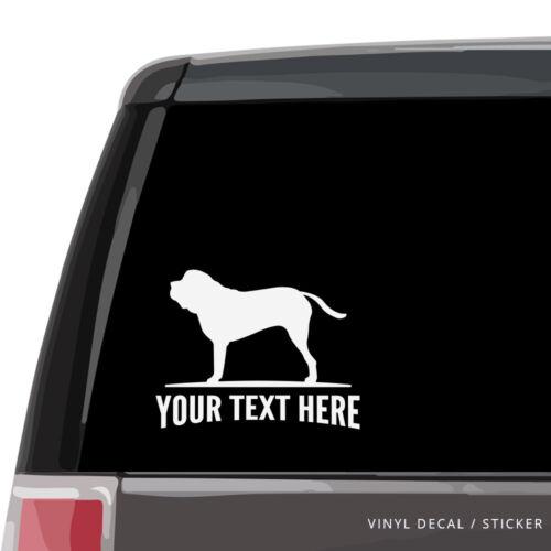 laptop wall dog English Mastiff Car Window Decal Personalized Vinyl Sticker